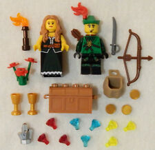 NEW LEGO ROBIN HOOD & MAID MARIAN MINIFIG LOT castle figure forestman minifigure