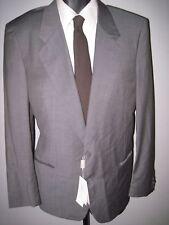 "40L gray window pane 2 button ""Cerruti 1881"" Italy cloth wool suit 34W unhemmed"