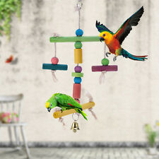Bird Parrot Swing Toys Cockatiel Parakeet Budgie Standing Climbing Chewing Toy