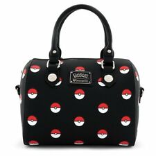Loungefly Pokemon * Pokeball Print Duffle Purse * Black PMTB0026 Bag Handbag