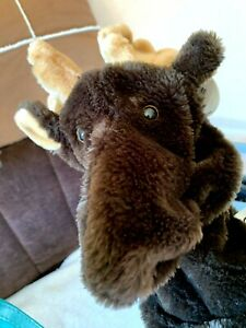 Deer moose elk long hand glove puppet soft toy animal by Juans Corporation VGC