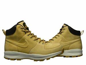 Nike Manoa Black Leather Wheat Flax Haystack 454350-700