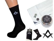 Freemasons Masonic Shirt Button Cover Cufflinks Cuff Links+ A Pair Black Socks