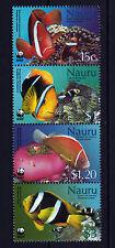 Sea Anemones Fishes mnh strip of 4 stamps 2003 Nauru #514-7