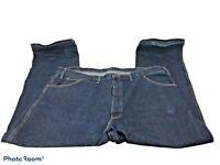Dickies Men's Blue Carpenter Work Jeans, Size 46 X 30, Heavy Weight Denim