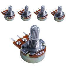5Pcs 50K 15mm ohm Linear Taper Rotary Potentiometer Panel Pot