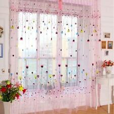 Balloon Scarf Sheer Voile Window Treatment Curtain Drapes Valance Pink 270cm