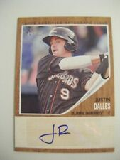 JUSTIN DALLES AUTO 2011 Topps Heritage Minors baseball card signed USC GAMECOCKS
