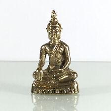 Miniature Figurine Brass Statue of Buddha LP.Thun Jai Metalwork Art #121