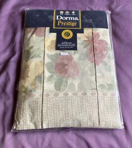 Vintage Dorma Prestige King Size Floral Box Pleat Valance Winter Rose BRAND NEW