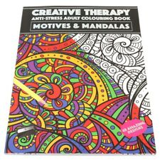 MANDALA COLOURING BOOK Kids Adult Creative Destress Mind Activity Colour Therapy