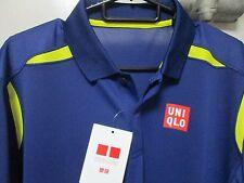 UNIQLO x Novak Djokovic 2016 Australian Open DRY-EX Polo Shirt S Royal Blue NEW!