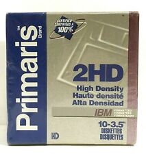 "Primaris 2HD 3.5"" Floppy Disk Diskettes 1.44 MB 10 Pack Sealed IBM formatted"