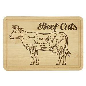 Beefcut brett brotzeitbrett schneidebrett frühstückbrett, mit Übersicht der Cuts