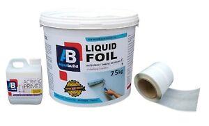 7.5m² Waterproof Tanking Large Kit Aqua Build LIQUID FOIL Shower Wet Room System