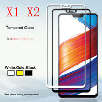 1/2pcs 9H Premium Full Cover Screen Protector Tempered Glass Film for OPPO R15