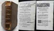 Ab] DÉFENSE DE L'HISTOIRE DES CINQ PROPOSITIONS JANSENIUS Paix de Clément 1701