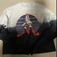 Womens Juniors Dip Dye NASA Long Sleeve Tee T-Shirt