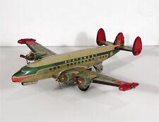 1950s Japanese Tin Litho Friction Drive Northwest Airlines Airplane Toy Yonezawa