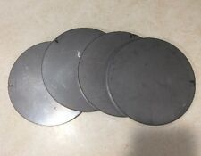 """1/4 (.25) thick X 5"""" diameter round steel plates Circles Target (4 pieces)"""