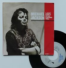 "Vinyle 45T Michael Jackson ""I just can't stop loving you"""