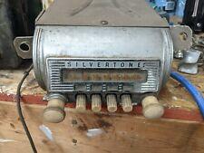 Vintage 1950's Car Truck Sears Silvertone Radio Under Dash Mount Untested