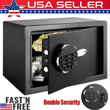 New Large Digital Electronic Safe Security Box  Keypad Lock Security with Keys