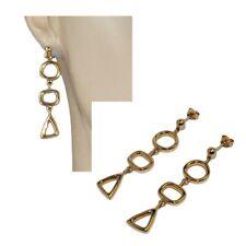 Boucles d'oreilles en plaqué or 18 carats pendant forme géométrique bijou