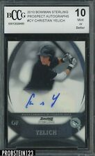 2010 Bowman Sterling Prospect Christian Yelich Marlins AUTO BCCG 10
