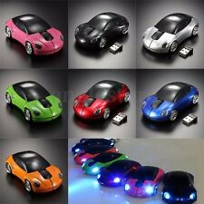 3D Wireless Optical 2.4Ghz Car Shaped Mouse Mice 1600DPI USB For PC laptop