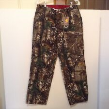 Carhartt Womens 6 Reg Realtree Camo Dungaree Relax Fit Double Knee NWT! #CB9c-9