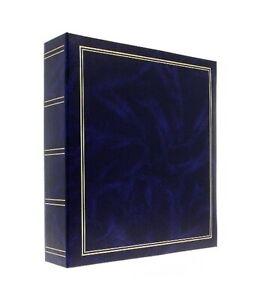 Large Classic Blue Ring Binder Self Adhesive Photo Album 50Sheets/100Sides Gift