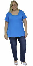 Rayon Short Sleeve Solid Tops & Blouses for Women