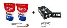 2500 Cartine Corte Doppie Ocb Nero Black + 3000 filtri SuperDiscount Slim 6mm