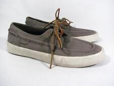 POLO Ralph Lauren Boat Shoe Men size 7 D Gray Leather