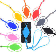 Universal 4.5-6in Silicone Cell Phone Lanyard Holder Case Cover Phone Neck StrUK
