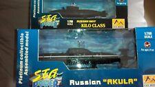Battleship-世界之艦船:潛水艇(沉艇)現狀如圖Russan Navy Submarine Twin Set-Kilo & Akula Class
