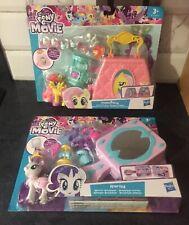 2x My Little Pony Play sets: Rarity Mirror Boutique & Fluttershy Purse Pet Care#