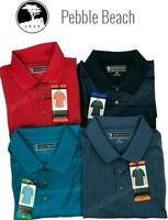 New Pebble Beach Men's Dry-Luxe Performance Golf Polo Shirt Various Colors/Sizes
