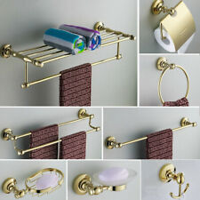 Luxury Gold Bathroom Hardware Set Toilet Paper Holder Towel Bar Bath Accessories