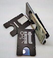 F_ _ K  IT, Billet Aluminum Wallet/Credit Card Holder, RFID protection Black