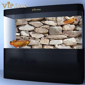 Aquarium Background Poster Rock Stone HD Fish Tank Decorations Landscape