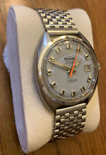 Vintage Nivada Grenchen Orbitron Watch Automatic High Frequency w/ Date