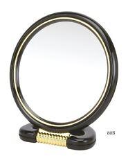 Danielle 15cm round Black 3x Magnifying Mirror
