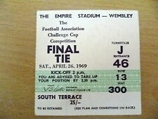 Tickets- 1969 FA Cup FINAL- LEICESTER CITY v MANCHESTER CITY,26 April (Org, Exc)