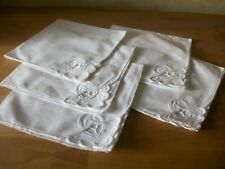 5 x Tape Lace White Table Napkins