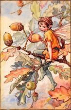 Acorn Fairy  :  Cicely Mary Barker  :  circa 1918  :  Art Print Home Decor
