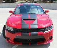 NEW Rally Stripes Fits Dodge Charger 15-21 Graphic Decals SRT Scat Pack Hellcat