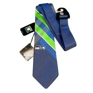 NFL Seattle Seahawks Mens Necktie Official Fan Football Apparel 100% Polyester