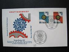 Bund/BRD MiNr. 533-534 FDC Ersttag Bonn gestempelt Europamarken (014)